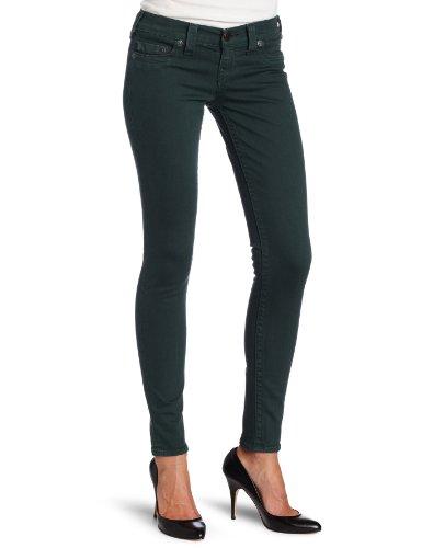 True Religion Damen Skinny Jeans Casey Super Skinny Legg Wash PQ- Marshal Emerald, Farbe: Dunkelgruen, Größe: 25