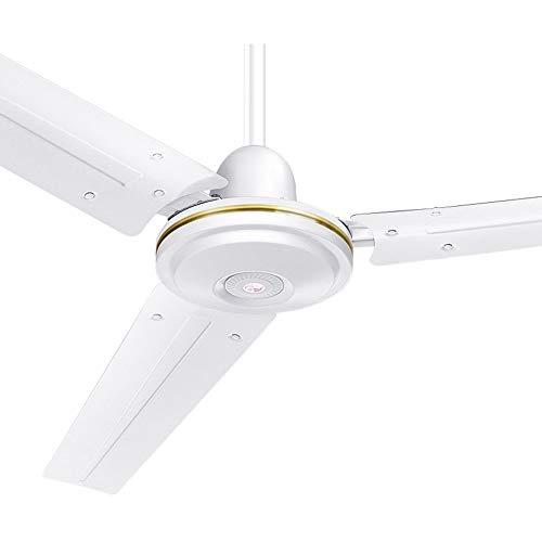 SSHHI Deckenventilator, Haushalts großen Wind Drehschalter Kühlung Kühlung leise geräuscharm Energieeinsparung Und Umweltschutz/Weiß / 48inch (Zoll 48 Deckenventilator)