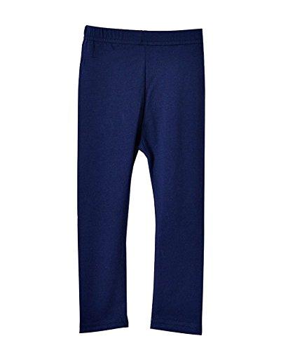 Niña Leggins Mallas Pantalones De Verano Color Sólido Navy 90