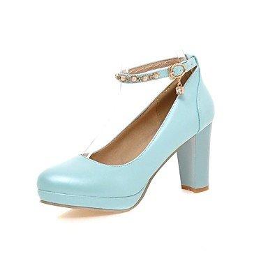 Zormey Frauen Schuhe Ferse Fersen/Plattform/Round Toe Heels B¨¹ro & Amp Karriere / Kleid Schwarz/Blau/Pink/Wei? US8.5 / EU39 / UK6.5 / CN40