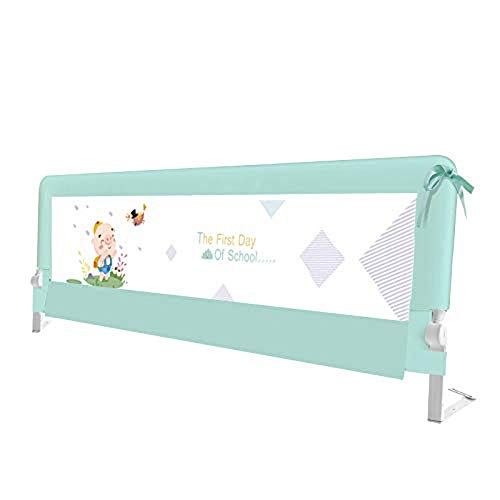 JAZC-Bettgitter Kinderbett Geländer Kleinkind Sicherheitsbett Geländer Einzigen Faltbare Barrier Rails Schutz Für Baby Kind Unten Schwingen Design (Size : 150cm)