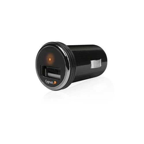 Cygnett PowerMini, Compact USB car charger, para tutti iPhones, iPods