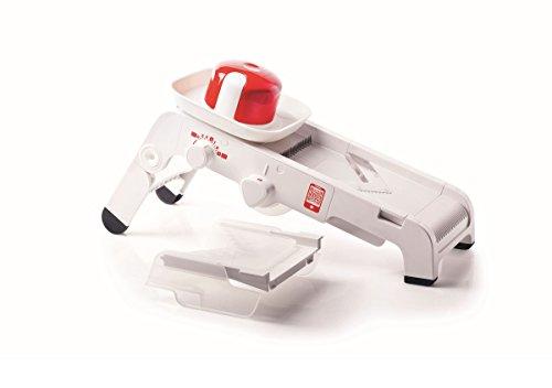 Tupperware A12109598 Küchenstar Mandochef Profireibe/Hobel, Kunststoff, weiß / rot, 35 x 18 x 10 cm, 3 Einheiten