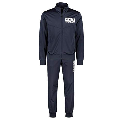 9ff295d3d Emporio Armani EA7 Mens Train Visibility Polyester Tracksuit 3GPV58 - Navy