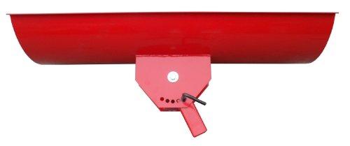 Universal Schneeschild / Hochwertig rot pulverbeschichtet / Breite: 125 cm – Höhe 40cm / Für Einachser Rasentraktor Quad Atv - 4