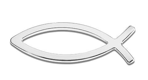 Cruiser Accessories 83103 3D-Cals Chrome 'Ichthus' Decal