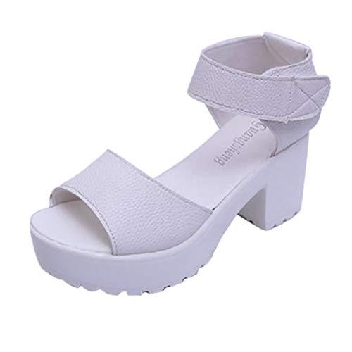 Scarpe da Lavoro Sandali Estivi Donna con Tacco Alto Eleganti Summer Peep Toe Elegante Sexy Moda Vintage Sandali da Spiaggia di Scarpe Romane