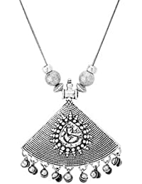 Voylla Fashion Alloy With Oxidized Silver Plated Pendants For Women - B077MRK6Y5