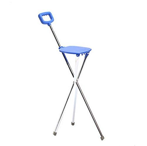 RUIRUI Stampella Camminare seduta in canna bastone da passeggio per gli anziani in alluminio Sgabello