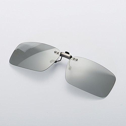 Import Von Mode-accessoires (Sonnenbrillen Mode HD Sonnenbrille Clip intelligente Chameleon Sonnenbrille polarisieren Clip kurzsichtige Clip Anti-UVA Anti-UV für Nachtsicht Radfahren Reiten Angeln Pilot Sonnenbrille mit Farbwechs)
