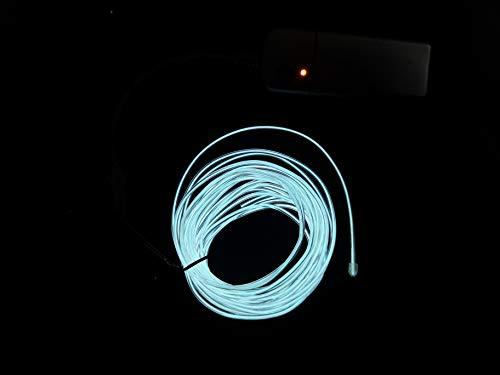 SOUTHSKY White EL Wire 5M de vert de néons waterproof conduit intérieur/extérieur des décorations de noël