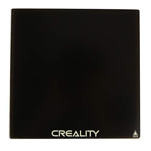 Wie Glas Bett (GESPERT Ender 3 3D Drucker Plattform Heated Bed Glass Plate Beheizte Oberfläche mit 4 schwarzer Clip für Bebauungs glas platte 235x235x4mm für Creality 3D Printer Ender 3 Hot Bed/Ender 3 Pro)