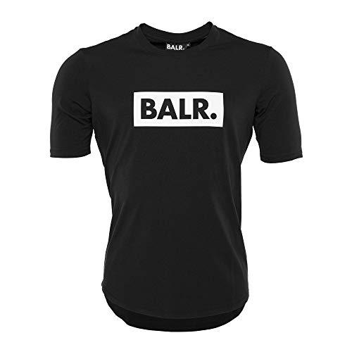 Athletic Fit-t-shirt (BALR. Klassisches Männer Club T-Shirt mit Athletic Fit - Schwarz - L)
