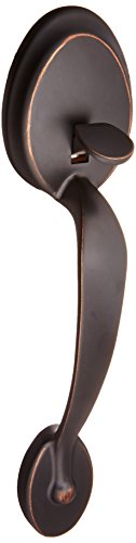 Bronze Plymouth Handleset (Schlage F92-PLY Plymouth Dummy Exterior Handleset from the F-Series, Aged Bronze by Schlage Lock Company)