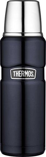 THERMOS 4003.256.047 Isolierflasche Stainless King, Edelstahl Midnight Blue 0,47 l, Drehverschluss, 12 Stunden heiß, 24 Stunden kalt, BPA-Free