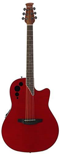 Ovation aplausos Elite acústica guitarra eléctrica–Trans rojo llama
