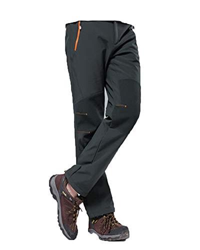 PengGengA Unisex Herren Schnell Trocknend Damen Trekkinghose Outdoorhose Skihose Softshellhose Regenhose Grau S