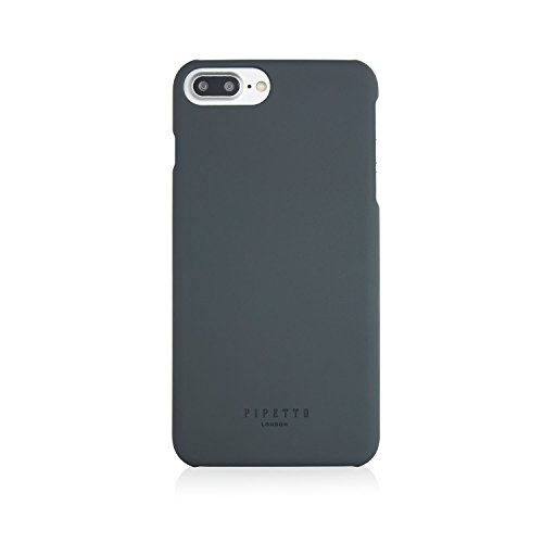 iPhone 7 Plus Case Pipetto Magnetverschluss Wallet Case für iPhone 6/6S/7 Plus [Medium] – PREMIUM Echt Leder mit 2 Kartenfächern und Ständer Funktion – Wallet Cover mit abnehmbaren Magnet Shell – Mari grau