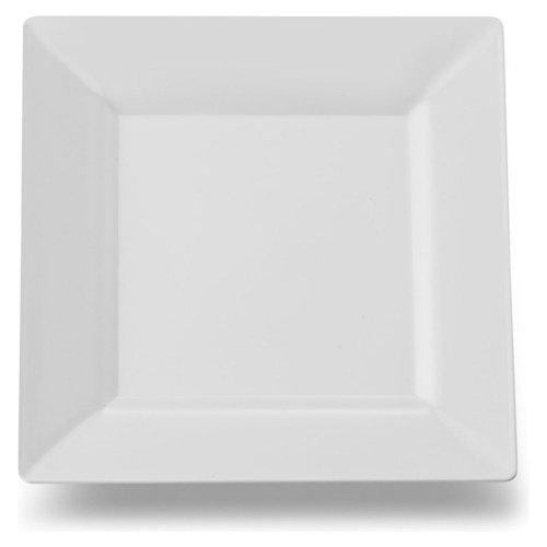 GSL - 30 assiettes carrées et striées en plastique robuste - 20 cm