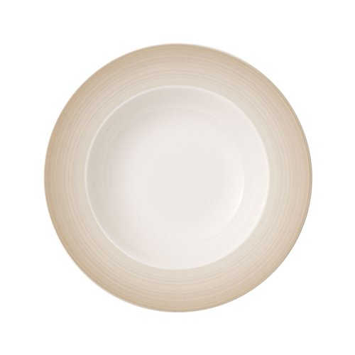 Villeroy & Boch Colourful Life Natural Cotton Assiette creuse, 25 cm, Porcelaine Premium, Blanc/Beige