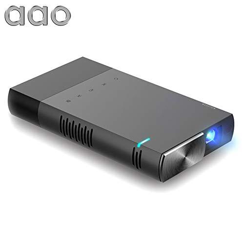 Miss-an Mini-Full-HD-LCD-Projektor, AAO S1 DLP LED-Projektor 1500 Lumen unterstützt 1080p mit Bildschirmfreigabe und Off-Axis-Radius-Maschine für die Arbeit Watching Movies Video Game S1 Lcd