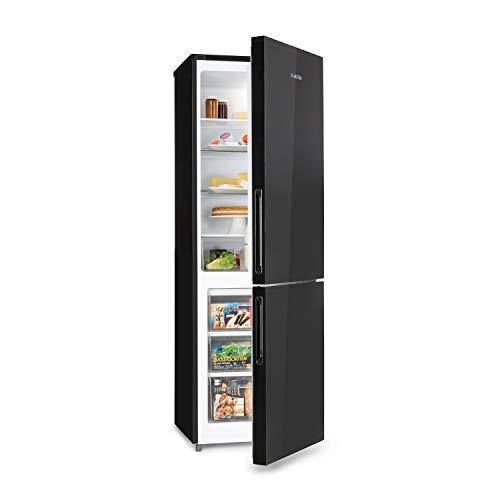Klarstein Luminance Frost - Réfrigérateur-congélateur de luxe, Capacité de 300 L, Réfrigérateur de 209 L, Congélateur séparé 91 L, classe énergétique A+, noir