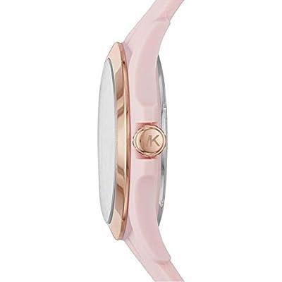 Michael Kors - Reloj Digital para Mujer, de Cuarzo con Correa en Silicona, Rosa de Michael Kors
