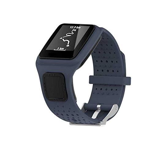 Bracelet à la Mode, fittingran Tomtom Runner Cardio GPS HR Montre Strap, Remplacement Silicagel Soft Comfort Band Strap pour Tomtom Runner Cardio GPS HR Watch Gris
