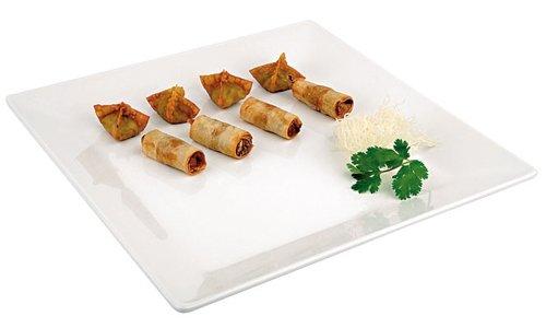 APS Paderno Monde Cuisine centimètre carré Blanc en mélamine Plateau, Dimensioni 18x18 cm