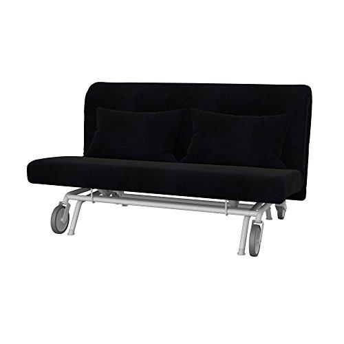 Soferia - Ikea PS Fodera per Divano Letto a 2 posti, Eco Leather Black