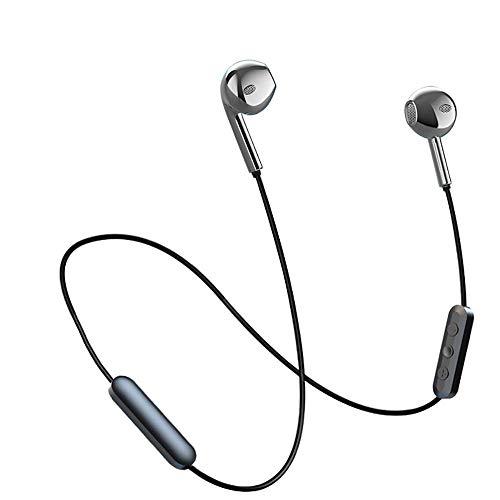 Beyeah Bluetooth Kopfhörer, IPX5 Wasserdicht Metall Sport Kopfhörer, In Ear Kopfhörer mit Mikrofon für IOS und Android Smartphones(Schwarz) - Mikrofon Mit Kopfhörer Schwarze