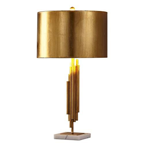 Goldene Lampe Schlafzimmer Nachttischlampe, Hardware Schmiedeeisen Tischlampe, E27 LED, Höhe 70CM Lampen und Beleuchtung