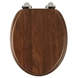 Roper Rhodes Solid Wood Soft Close Toilet Seat Walnut By