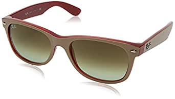 Ray-Ban RAYBAN Unisex-Erwachsene Sonnenbrille 2132, Matte Beige On Opal Red/Green Gradient Brown, 52