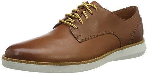 Clarks Herren Fairford Run Sneaker, Braun Tan Leather, 45 EU -