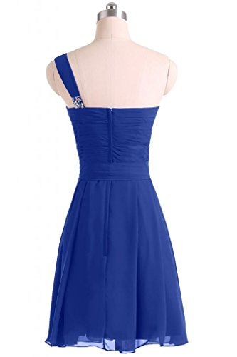 Sunvary donna semplice da Cocktail Homecoming uno Chiffon spalla Bridesmaid Gowns Royal Blue