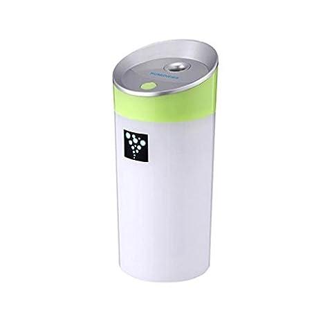 Adorable humidificateur Elyseesen Frais de voiture famille humidificateur des anions purificateur d'Air Freshener avec Interface USB (Vert)