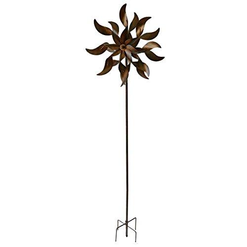 Unbekannt VARILANDO® Deko-Windrad aus Metall in Rost-Optik 178 cm Garten-Stecker Metall-Gartendekoration | Garten > Dekoration > Windräder | Metall | Unbekannt