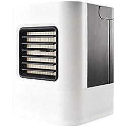 HANGESS Mini Climatiseur Refroidisseur D'air Et Purificateur D'air Portatifs Mobiles Et Petits, Ventilateur De Table - Blanc