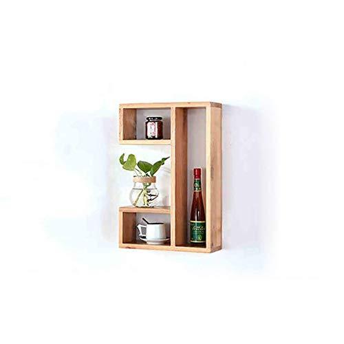 Estanterías flotantes nórdico de madera maciza de roble blanco L estante creativo, estantería, estante de flores, decoración del dormitorio de estilo japonés (Color: A, tamaño: 80 * 15 * 60 cm)