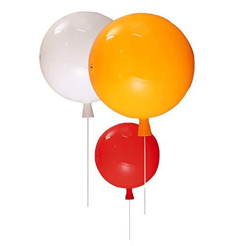 6-licht Halogen-flush (Moderne Wandleuchte Wandlampe Mini Farbe Ballon Innenbeleuchtung für Schlafzimmer Kinderzimmer Kindergarten Mode Wandbeleuchtung Dekorative Ø20 CM (Weiß))