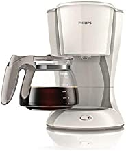 Philips Daily Collection Coffee Maker with Glass Jug - White, HD7447