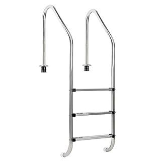 Zelsius–Piscina de acero inoxidable V2A, escalera para piscina–«XL»