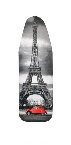 Bügelbrettbezug, Städte, Große und mittlere, 100% Baumwolle, 5 mm Schaumstoff-Polsterung (Paris, 148x52)