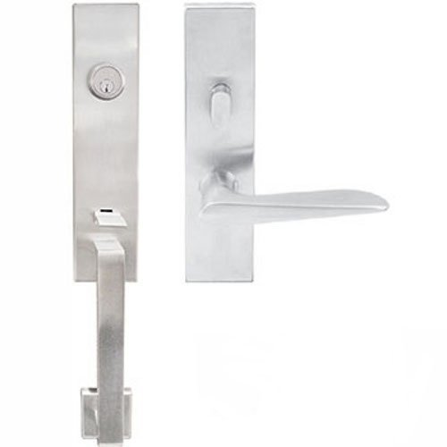 INOX MH344C563-32D-RHR Right Handed Reverse Tubular Entry MH Handleset with 2-3/8-Inch Backset and Ecco Lever, Satin Nickel by INOX - Ecco Satin