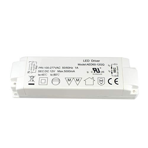 LED Transformator 60W 3A für MR16 GU5.3 MR11 LED Lampen, AC240V zu DC12V LED Driver, 1er Pack, Aiwode. - 277v Lampen