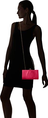 Swanky Swans - Mira Satin Classic Frame Bag, Pochette da giorno Donna Rosa (Fuschia)