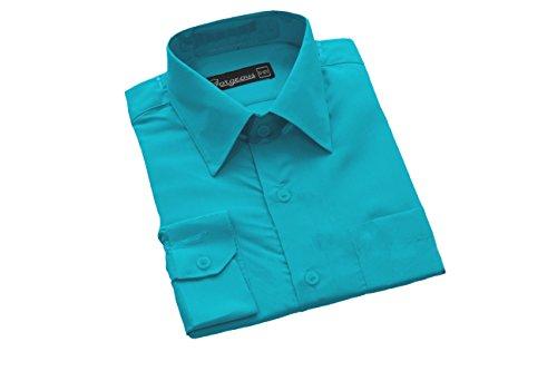 Formales Hemd, Jungen, 6 Monate - 16 Jahre, Blau - Aqua