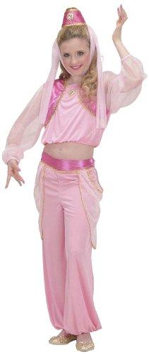 Widmann 58638 - Kinderkostüm Flaschengeist, Bluse mit Weste, Hose und Kopfbedeckung, Größe - Halloween-kostüm Mädchen Genie