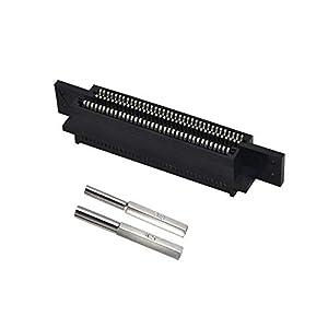 WiCareYo 72 Pin Connector Adapter Ersatzteile mit 3,8 mm 4,5 mm Schraubendreher Öffnungswerkzeugfür NES Game Cartridge 8 Bit System
